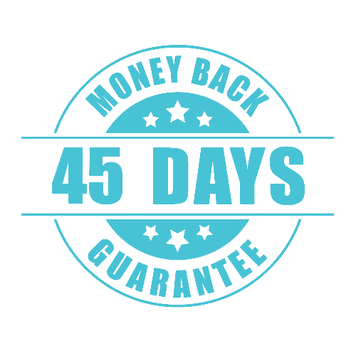 45 Day Money Back Guarantee - Reverse color